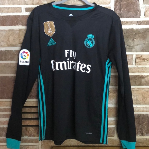 outlet store f6b1d fa3af Cristiano Ronaldo Real Madrid Long Sleeve Jersey